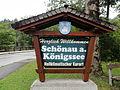 Schönau am Königssee — Willkommensschild.JPG