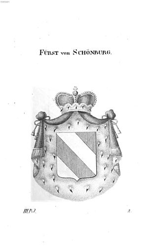 Schönburg family - Arms of the Princes of Schönburg