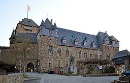 Schloss Burg Palas NW-Ansicht