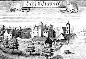 Schloss Fußberg - Image: Schloss Fussberg, Stich von Michael Wening um 1700