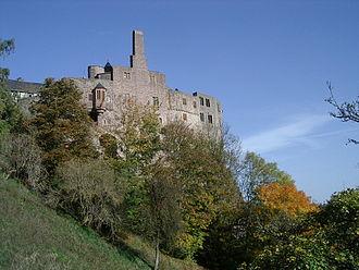 Idar-Oberstein - Schloss Oberstein, castle on the hills above Oberstein