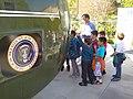 Schoolchildren Tour Presidential Helicopter - Richard M. Nixon Presidential Library & Birthplace - Yorba Linda, CA - USA (6919722801).jpg