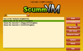Interface de ScummVM