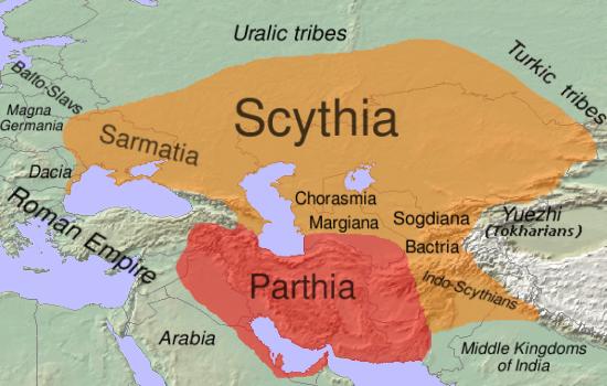 Scythia-Parthia 100 BC