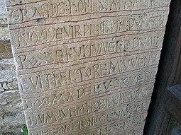 Detalle de las inscripciones.