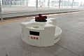 Seat and dustbin on the platform of Ningbo Railway Station.jpg