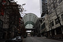 Seattle - Pike Street covered in front of WA State Convention Center.jpg