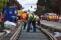 Seattle - laying trolley tracks on Broadway at James 06.jpg