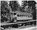 Seattle trolley car on trestle, Woodland Park, ca 1910 (MOHAI 7211).jpg
