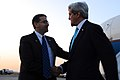 Secretary Kerry is Greeted by Ambassador Shapiro Upon Arrival in Israel For Peace Talks (13543696624).jpg