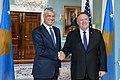 Secretary Pompeo Meets with Kosovo President Thaci (49588786911).jpg