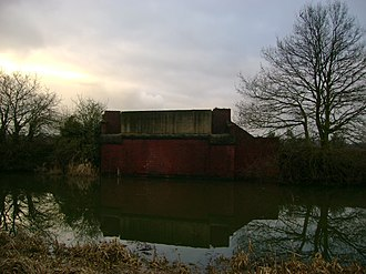Selby–Goole line - Dismantled bridge across Selby Canal