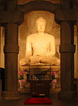 Figure of a seated buddha.