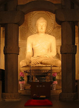 Korean Buddhism - An image of Gautama Buddha at Seokguram Grotto, Gyeongju, in South Korea