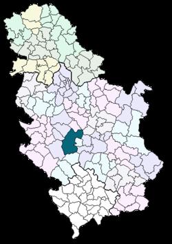 kraljevo karta srbije Kraljevo (općina) – Wikipedija kraljevo karta srbije