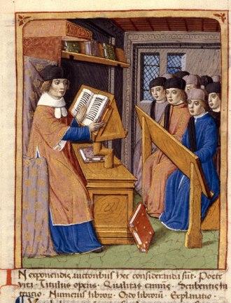 Maurus Servius Honoratus - Servius commenting Virgil (France, 15th century).