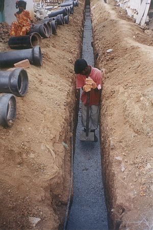 Chandranagar - Lying pipes in Chandranagar