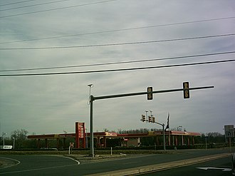 Edgehill, King George County, Virginia - Central intersection in Edgehill