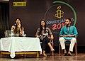 Shehla Rashid Shora (center) at an Amnesty Event in New Delhi. Gurmehar Kaur (left) also pictured.jpg