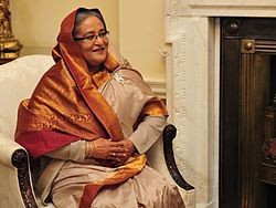 Sheikh Hasina in London Image: Prime Minister's Office.