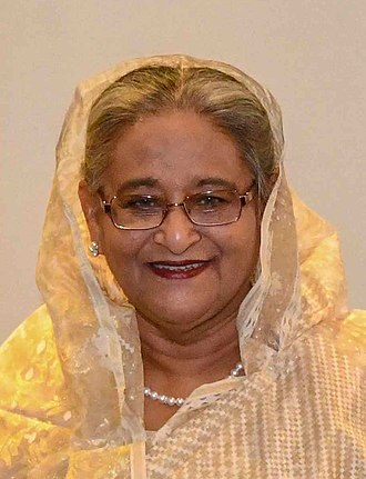 Sheikh Hasina - Image: Sheikh Hasina in New York 2018 (44057292035) (cropped)