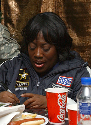 Comedian Sheryl Underwood hangs out with a Sol...