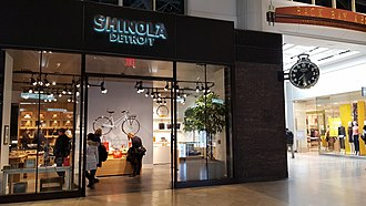 Shinola (retail company) - The Shinola retail location at The Shops at Prudential Center in Boston, Massachusetts.