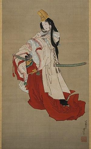 Shirabyōshi - A painting by Katsushika Hokusai of the most famous shirabyōshi, Shizuka Gozen (Lady Shizuka), who was the lover of Minamoto no Yoshitsune.