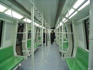 Line 9, Shanghai Metro - Interior of Line 9 AC04 series train