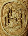 Siddhartha cures the wounded bird Roundel 11 buddha ivory tusk.jpg