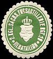 Siegelmarke 2. Königlich Sächsisches Fussartillerie Regiment 19 - III. Bataillon W0238388.jpg