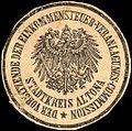 Siegelmarke Der Vorsitzende der Einkommensteuer - Veranlagungs - Commission Stadtkreis Altona W0205467.jpg