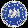 Siegelmarke K.Pr. 5. Badisches Infanterie Regiment Nr. 113 W0283727.jpg