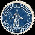 Siegelmarke Kirche St. Nicolai - Magdeburg - Neustadt W0217410.jpg