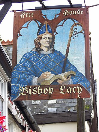 Edmund Lacey - Sign of the Bishop Lacy public house in Chudleigh, Devon