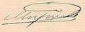 Signature of Margherita of Savoy, first Queen of Italy.png