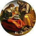 Signorelli, sacra famiglia di parte guelfa, uffizi, diam. 124 cm.jpg