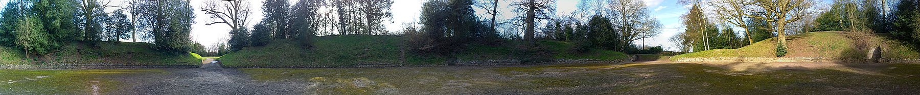 Silchester Amphitheatre Panorama 360 degrees