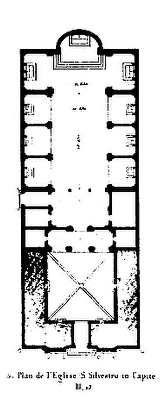 San Silvestro in Capite - Plan of S. Silvestro