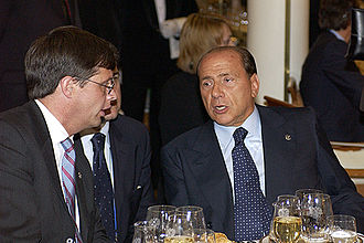 Jan Peter Balkenende - Jan Peter Balkenende and then Prime Minister of Italy Silvio Berlusconi in 2003.