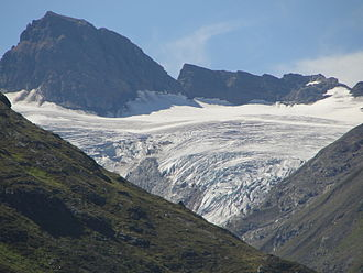 Piz Buin Pitschen - View from the north with the Ochsentaler Glacier
