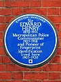 Sir EDWARD HENRY 1850-1931 Metropolitan Police Commissioner 1903-1918 and Pioneer of Fingerprint Identification lived here 1903-1920.jpg