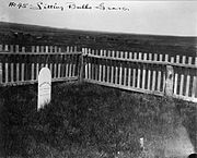 Sitting Bull's grave at Fort Yates, ca. 1906