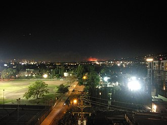 Skirball Fire - A shot of the Skirball Fire from West Hollywood, shortly after its ignition