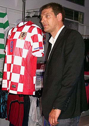 Slaven Bilić - Bilić at the presentation of Croatia's new kit, April 2010