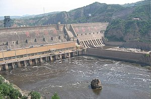 Sanmenxia Dam - Image: Smxgongcheng
