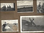 "Snapshots of men and aircraft at Camp Mohawk, one of the Royal Flying Corps' pilot training camps near Deseronto, Ontario. Includes one showing Foresters' Island and a railway line ""on the way to (6079347343).jpg"