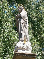 Sloup se sochou Panny Marie v Mezilečí