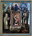 Sodoma e bottega, padre eterno e quattro santi, che incorniciano madonna di francesco di vannuccio (1375 ca.) 01.jpg