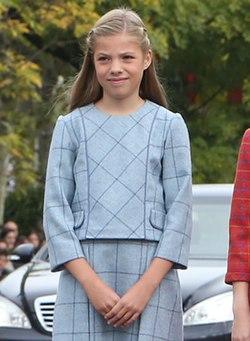 L'infante Sofia en 2018.